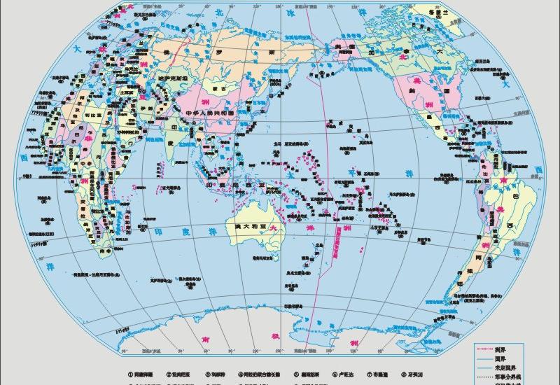 世界地图全图中文版-点击看大图